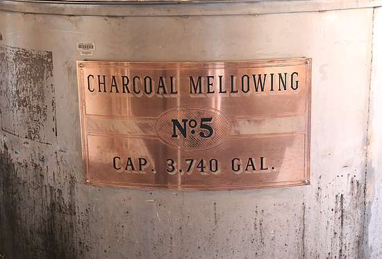 The charcoal mellowing tank of George Dickel