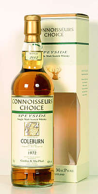 Coleburn Connoisseur's Choice Gordon & MacPhail 1972/99 40% with cardboard box