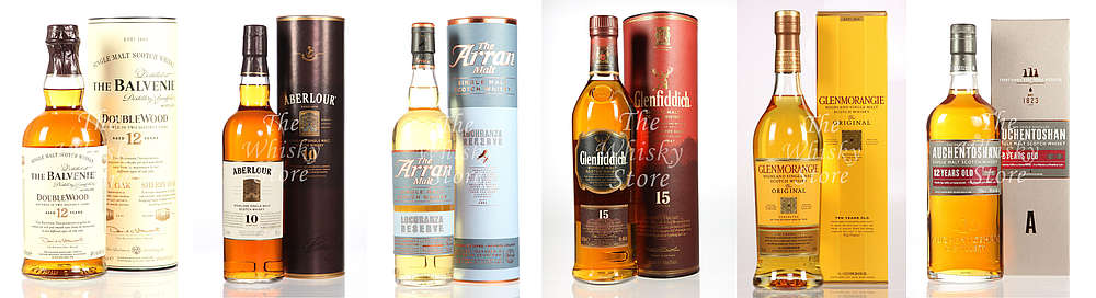 A selection of beginner Whiskys