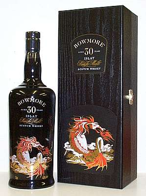 Bowmore Sea Dragon 30 y.o. with its wooden box