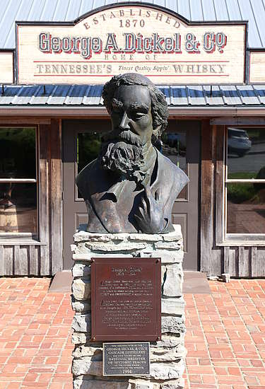 A statue of George Dickel