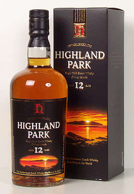 Highland Park 12 y.o. with square cardboard box