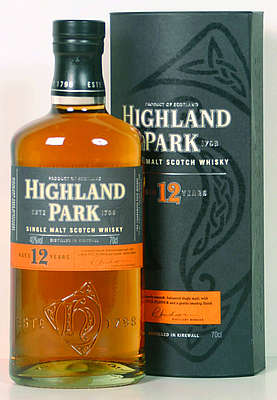 Highland Park 12 y.o. with round cardboard box