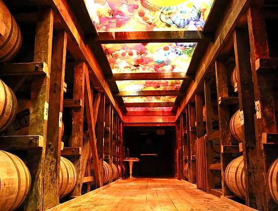 Inside the warehouse of Makers Mark