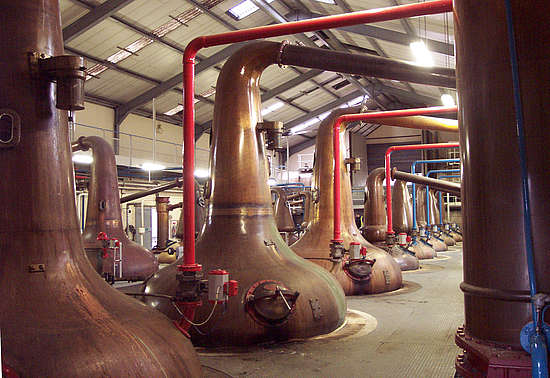 The Glenfiddich pot stills