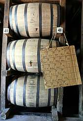 George Dickel table with barrel leaks uploaded by Ben, 08. Jun 2015