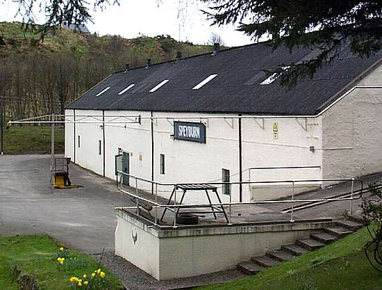 The Warehouse of the Speyburn distillery