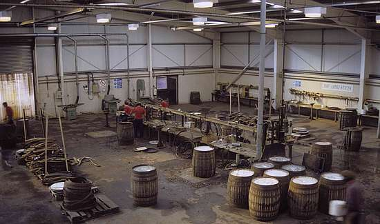 The main factory floor at the Speyside Cooperage