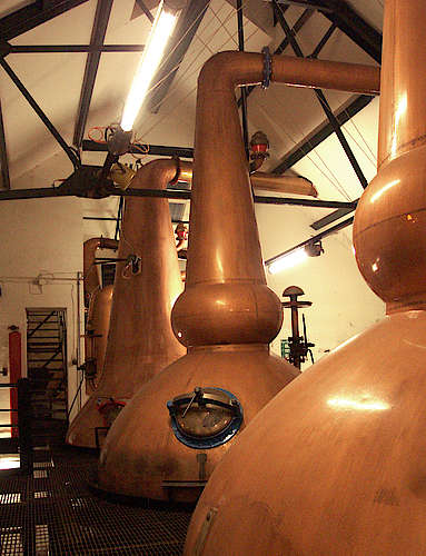 The Pot Stills of the Glen Keith Distillery