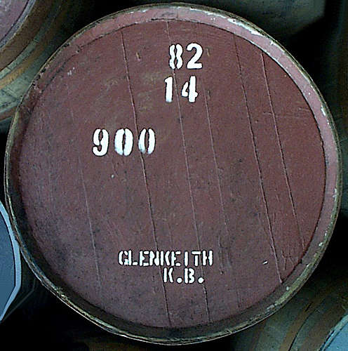 A cask of the Glen Keith Distillery