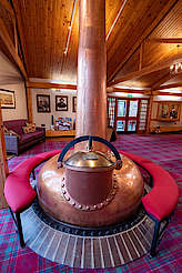 Glenfarclas pot still in visitor centre uploaded by Ben, 29. Nov 2019