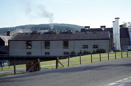 The still house of the Glenfiddich distillery.