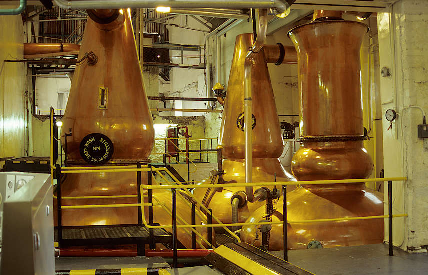 The Dalmore wash stills.