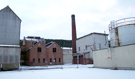 The production area of the distillery.