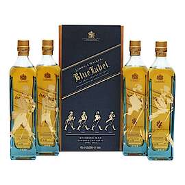 Johnnie Walker Johnnie Walker Blue Label - Striding Man Edition - 4x20cl